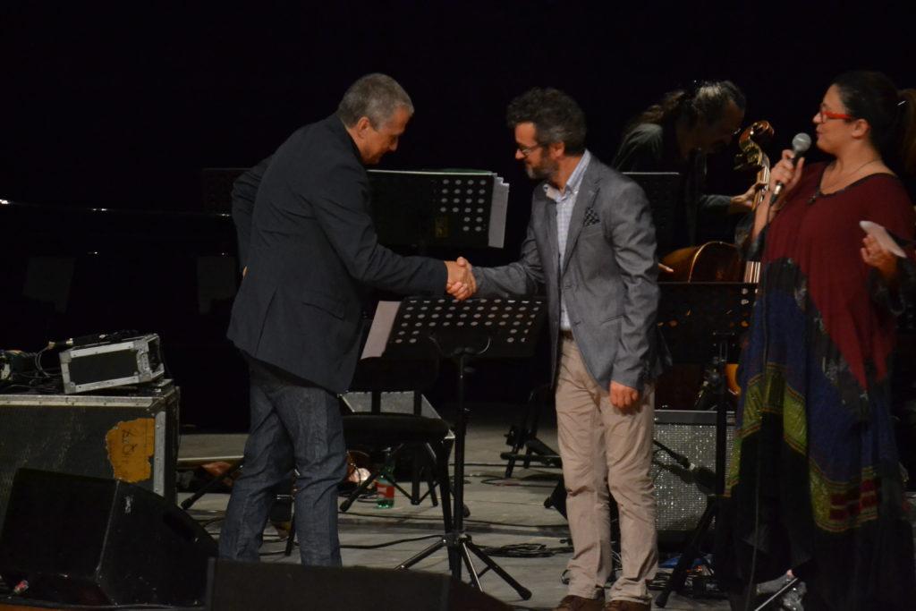 Gabriele Comeglio con Gavino Mele e Rachele Falchi